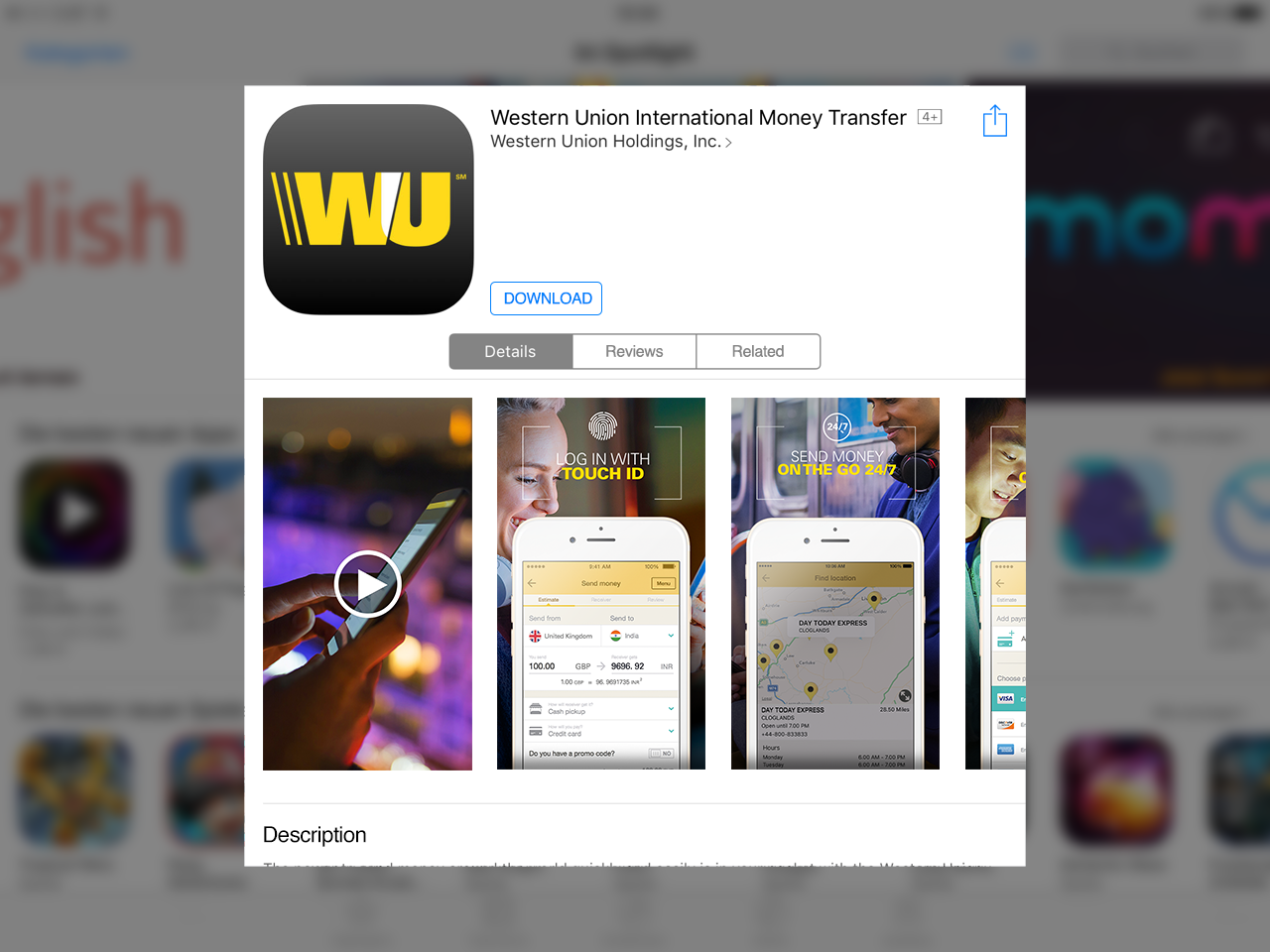 Western Union UK App in the App Store