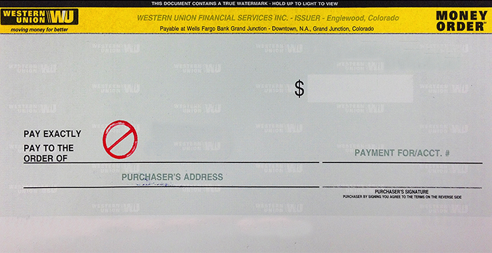 How To Fill Out A Money Order Western Union