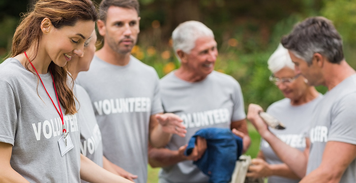 people pay it forward as volunteers