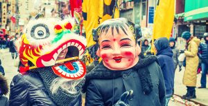 Chinese new year masks