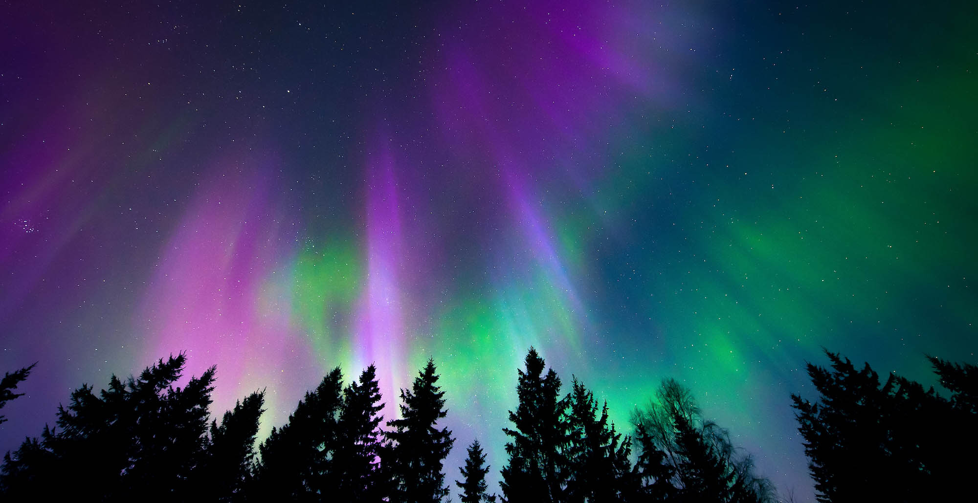 The hues of the northern lights