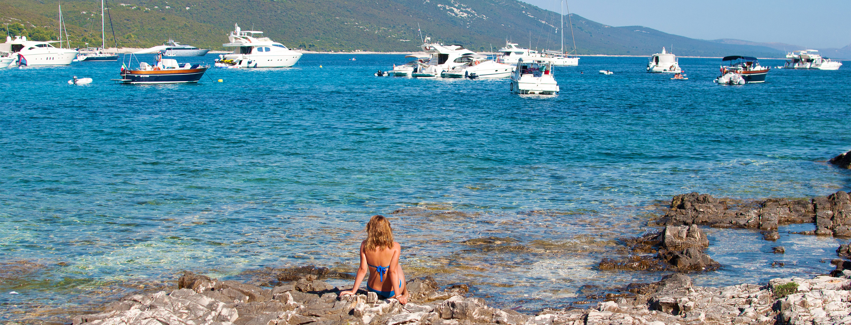 Croatian yacht bay
