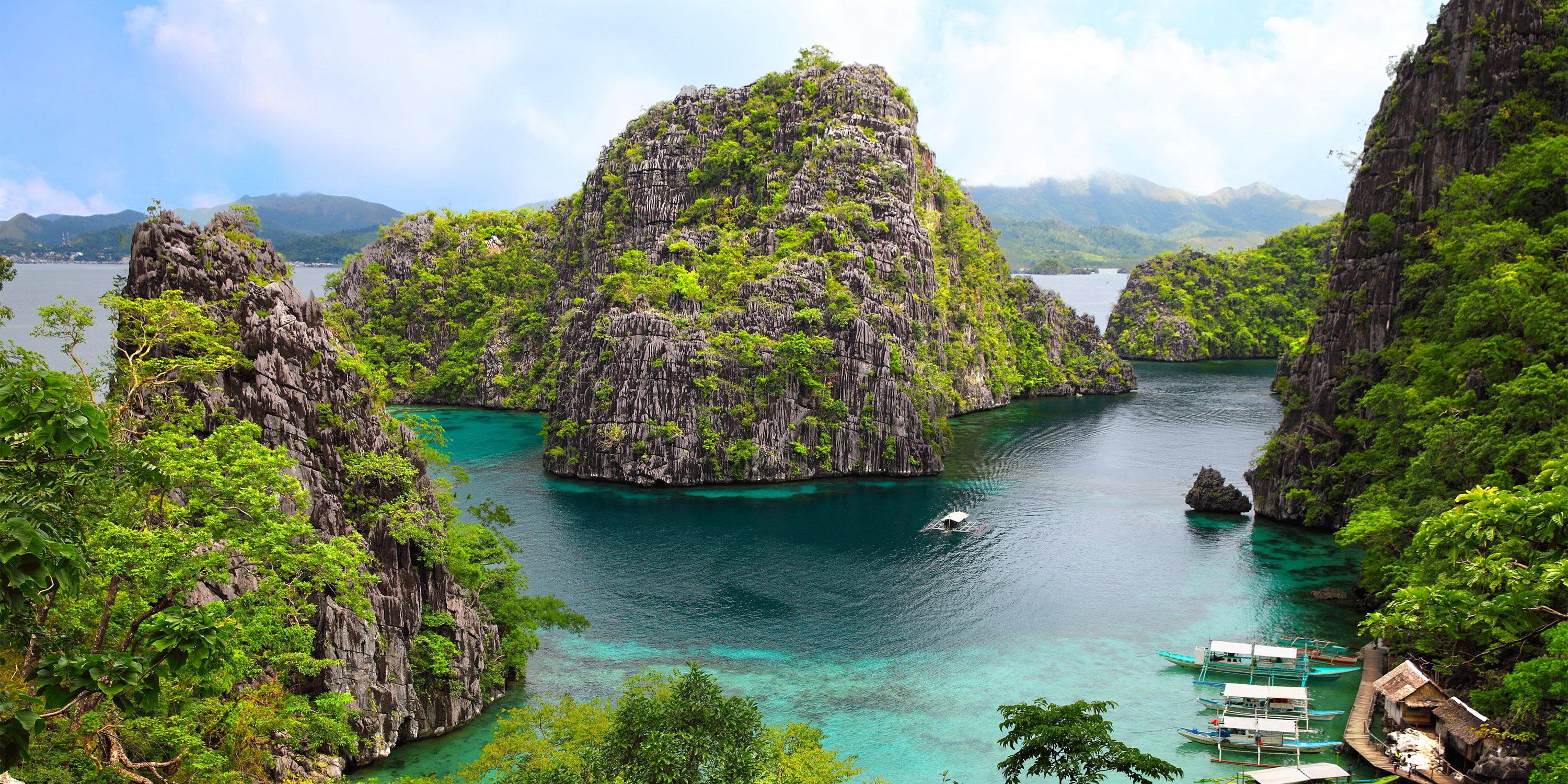 Coron island in the Palawan province of the Philippines