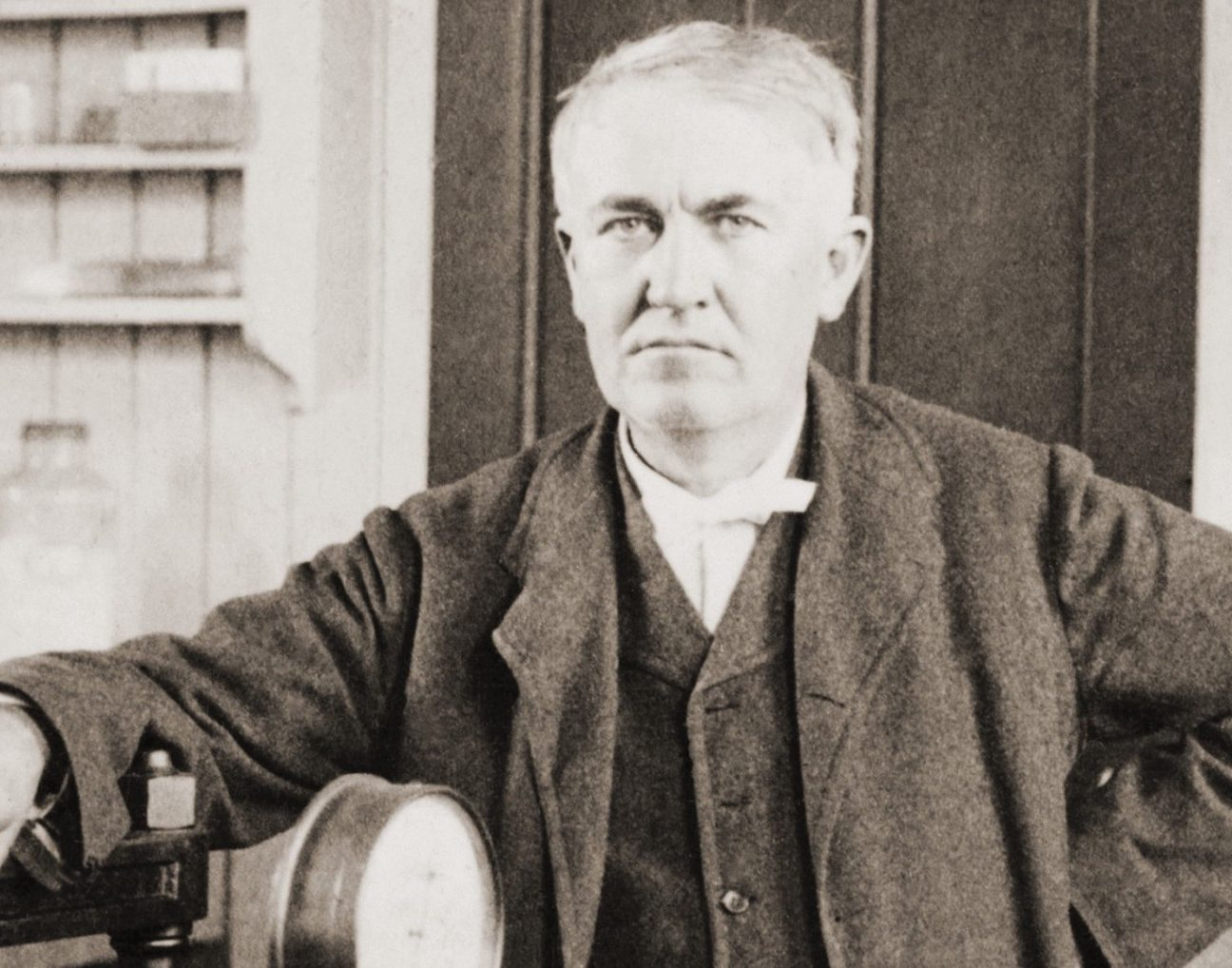 Edison with his inventions