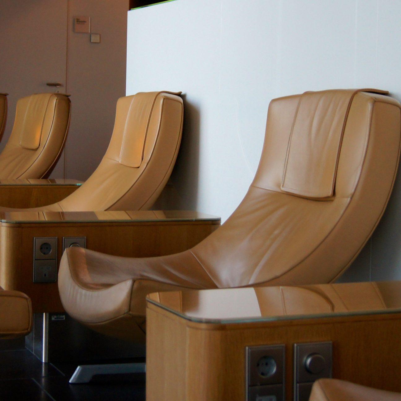 Row of plush seats