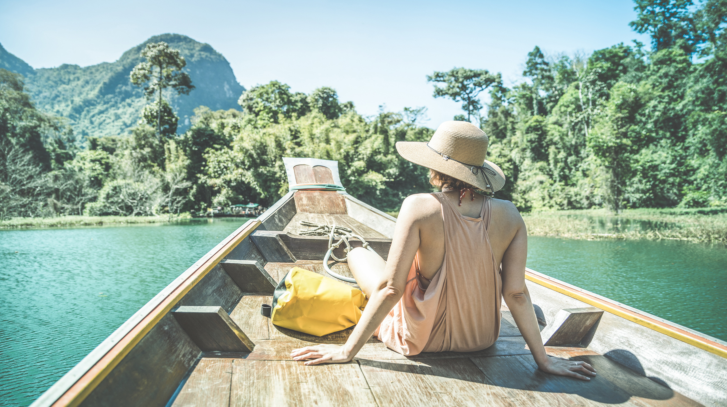girl alone on boat