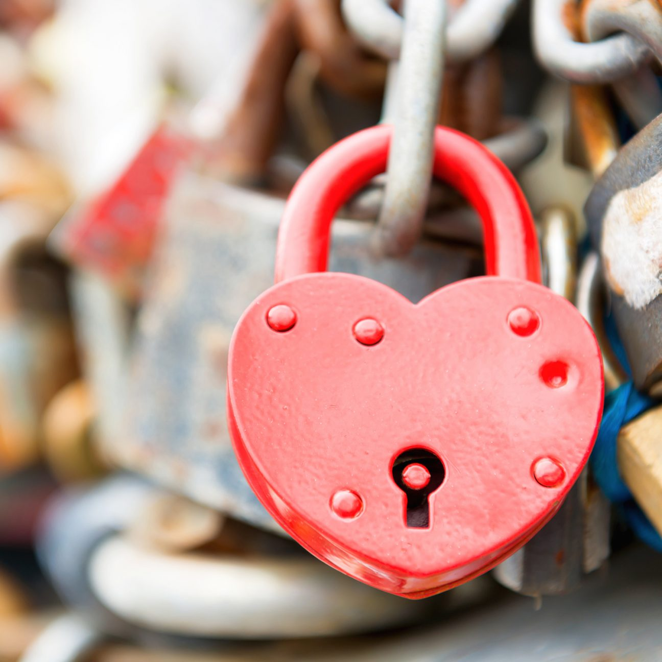 heart shaped lock