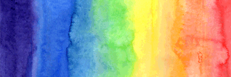 watercolor pride rainbow