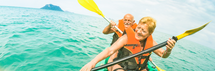 Senior Couple Retire Abroad and Go Kayaking in Thailand