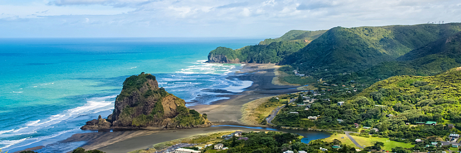 Trip to new zealand. Piha Beach New Zealand