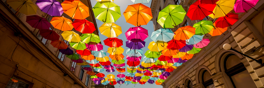 Umbrellas in Romania